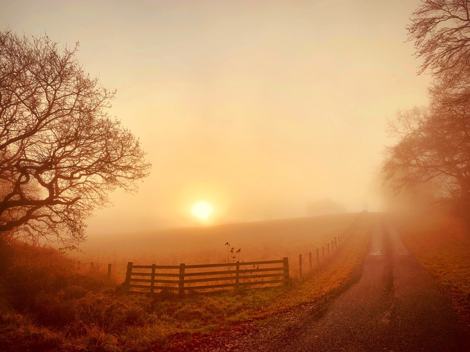 Commended Photo, 'Christmas Morning Sunrise' by Ian McIntyre