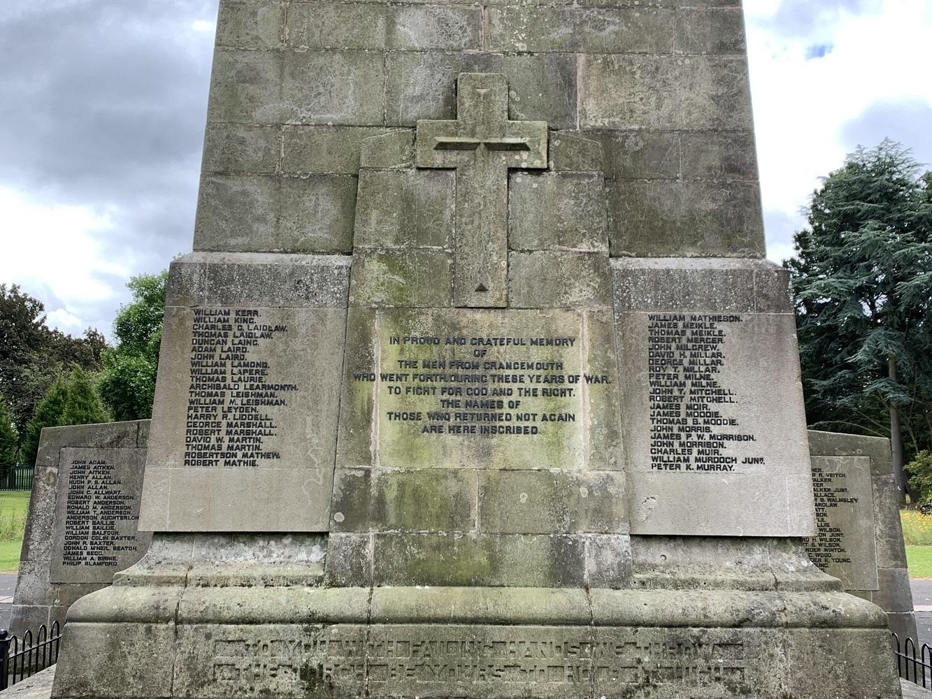 Remembering the Grangemouth War Memorial Dead