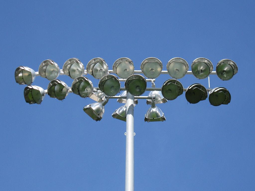 Floodlights at Ochilview Football Grounds
